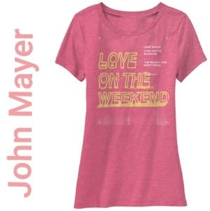 John Mayer Love in the Weekend tee